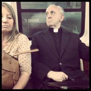 papa in metro